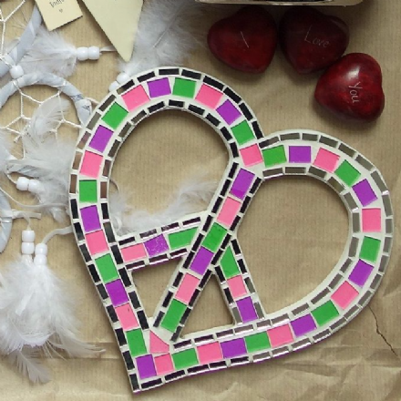 Heart shaped peace mosaic
